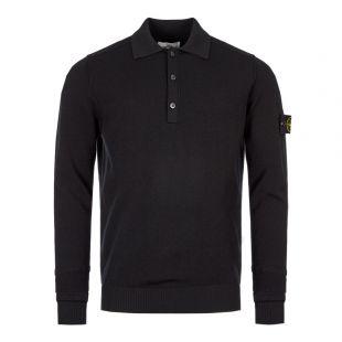 Stone Island Long Sleeve Polo Shirt | 7115589A1 V0029 Black
