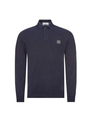 Stone Island Long Sleeve Polo Shirt 72152SS67 V0020 In Navy At Aphrodite Clothing
