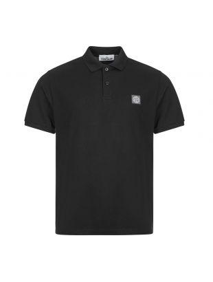 Stone Island Polo Shirt , 731522R39 V0029 Black , Aphrodite 1994