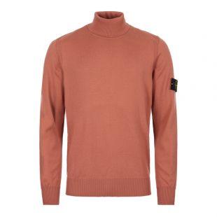 stone island roll neck sweatshirt 7115537C4 V0013 coral