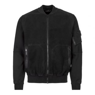 stone island shadow project bomber jacket 711960406 V0029 black fleece