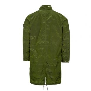 Jacket Striped Nylon Metal - Green