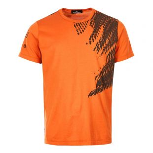 Stone Island Shadow Project T-Shirt 711920610 V0013 Orange / Black