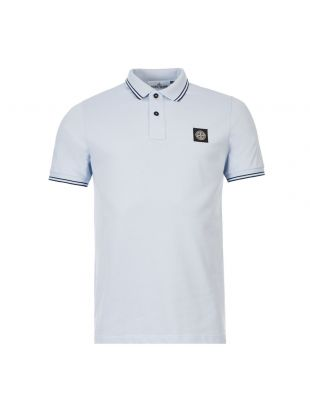 stone island polo shirt 101522S18 V1041 blue
