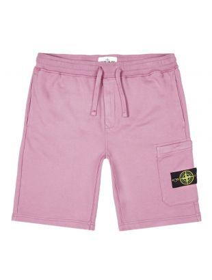 stone island sweat shorts 721564651 V0086 pink
