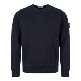 stone island sweatshirt garment dyed 711562720 V0020 dark navy