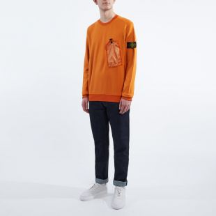 Sweatshirt Pocket - Orange