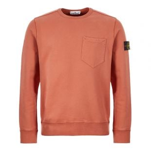 Stone Island Sweatshirt Pocket | 711563820 V0013  Rust