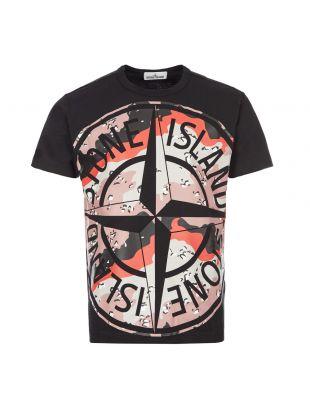 stone island t-shirt | 721523386 V0029 black / desert camo