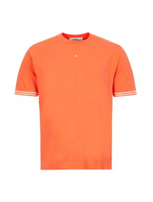 stone island t-shirt 721521358 V0037 bright orange