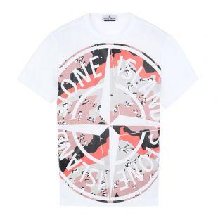 Stone Island T-Shirt | 721523386 V0001 White / Desert Camo