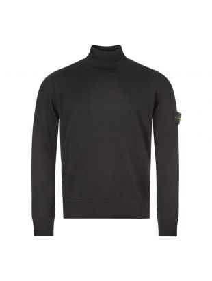 Stone Island Roll Neck Sweater | 7315528C4 V0029 Black | Aphrodite