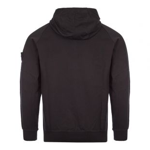 Ghost Piece Zipped Sweatshirt - Black