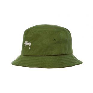 stussy bucket hat | 132974 OLIVE olive