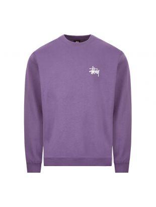 stussy sweatshirt crew | 1914500 PURPLE purple