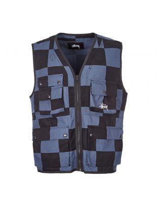 stussy utility vest | 115504 BLK black / dusky blue