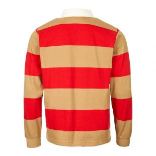 Rugby Shirt - Stripe Red/ Tan