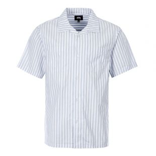 Stussy Short Sleeve Shirt 1110042 Blue Stripe