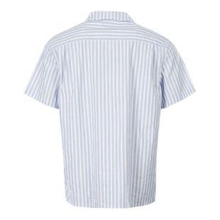 Short Sleeve Shirt - Blue Stripe