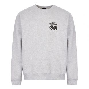 Stussy Sweatshirt Dice 1914460 ASH HEATHER Ash Heather