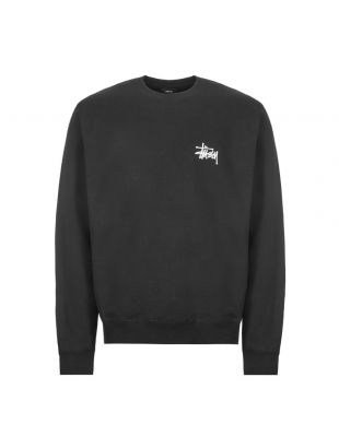 stussy sweatshirt crew | 1914500 BLK black