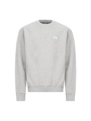 stussy sweatshirt logo | 118363 GRY grey