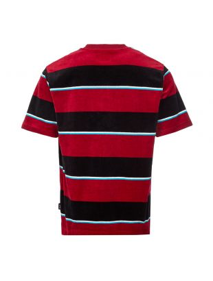 T-Shirt Velour Stripe - Wine