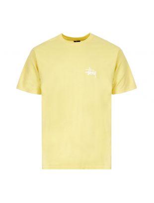 Stussy T-Shirt Basic Logo | 1904535 YELLOW