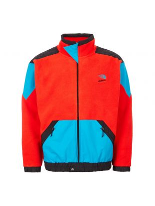 the north face extreme fleece jacket NF0A4AGKLKD red black blue
