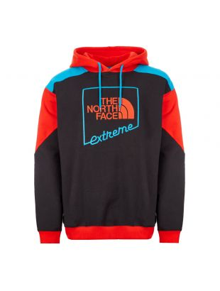 the north face extreme hoodie NF0A4A97YP32 black red blue