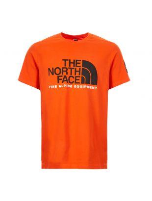 North Face Fine Alp T-Shirt | NF0A4M6N3YQ Tangerine