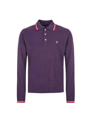 Vivienne Westwood Long Sleeve Polo Shirt | S25GL0048 S23142 394 Purple