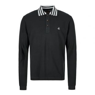 Vivienne Westwood Long Sleeve Polo Shirt S25GL0026 S23142 900 Black