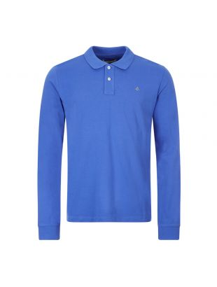 Vivienne Westwood Long Sleeve Polo Shirt , 26010027 21681 K401 Blue , Aphrodite 1994