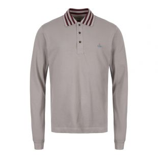 Vivienne Westwood Long Sleeve Polo Shirt S25GL0026 S23142 858 Grey