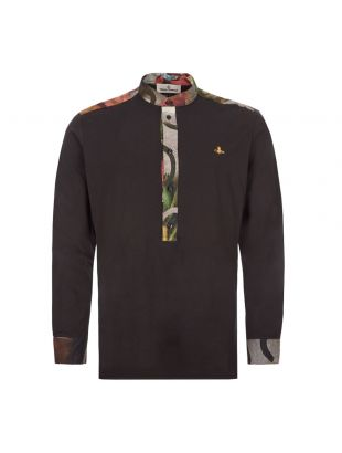 Vivienne Westwood Long Sleeve Polo Shirt Round Neck|S25GL0050 S22634 900 Black|Aphrodite1994