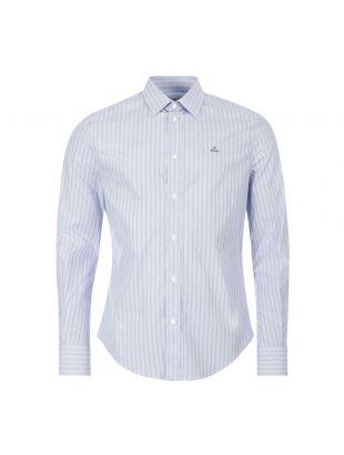 Vivienne Westwood Shirt , 24010025 11575 K202 Blue Stripe , Aphrodite 1994
