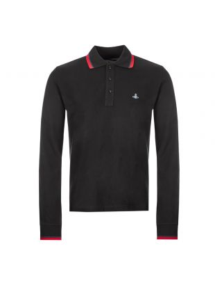 Vivienne Westwood Long Sleeve Polo Shirt S25GL0048 S23142 900 Black