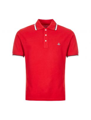 vivienne westwood polo shirt S25GL0047 S23142 305 red