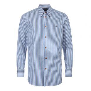 Vivienne Westwood Shirt | S25DL0457 S52093 001F Blue Stripe