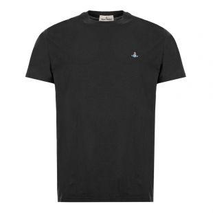 vivienne westwood t-shirt logo S25GC0459 S22634 900 black