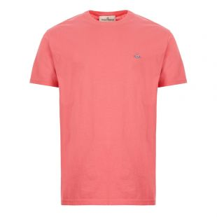vivienne westwood t-shirt logo S25GC0459 S22634 250 pink