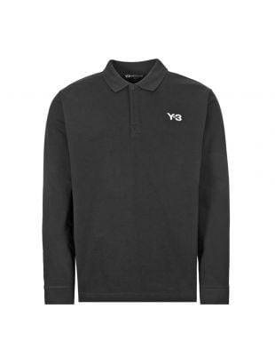 y3 long sleeve polo shirt rugby | FP8695 black