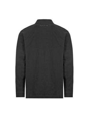 Long Sleeve Polo Shirt Rugby - Black