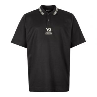 Y3 Collegiate Polo FJ0364 In Black At Aphrodite Clothing