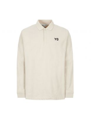 y3 long sleeve polo shirt rugby | FS3382 ecru