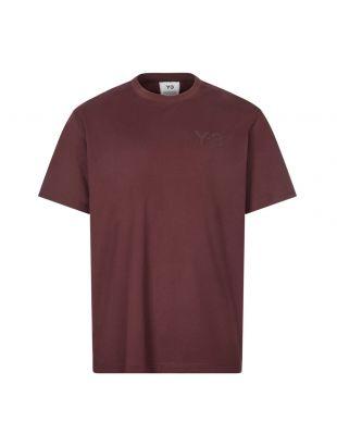 Y3 T-Shirt , GK4504 Burgundy , Aphrodite 1994