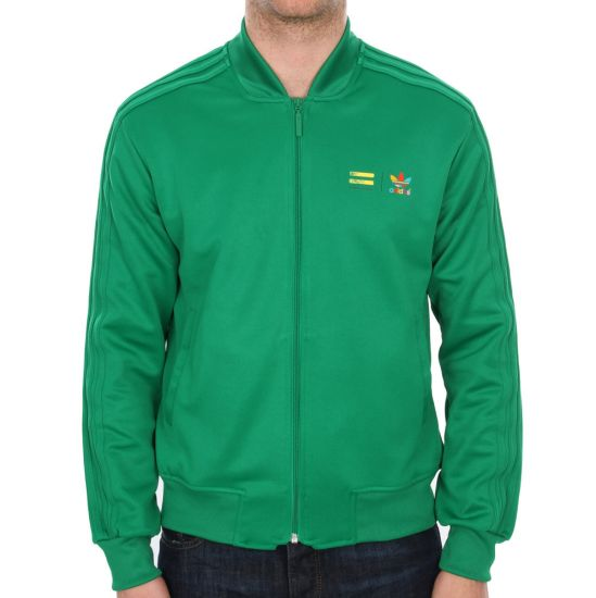 Adidas Originals X Pharrell Williams Supercolor Superstar Track Top in Green