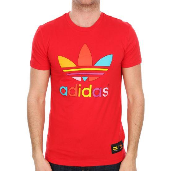 Adidas Originals x Pharrell Williams Supercolor Trefoil T-Shirt in Red