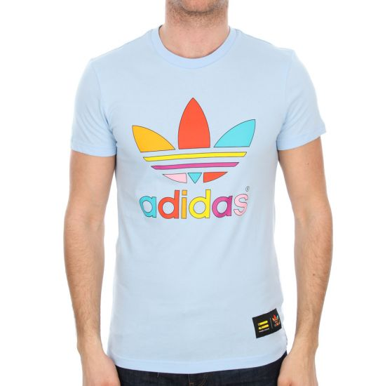 Adidas Originals x Pharrell Williams Supercolor Trefoil T-Shirt in Sky Blue
